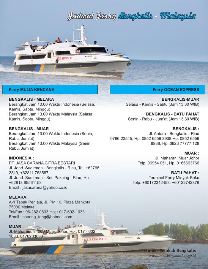 Jadwal Ferry Bengkalis Melaka Muar Batu Pahat Pp